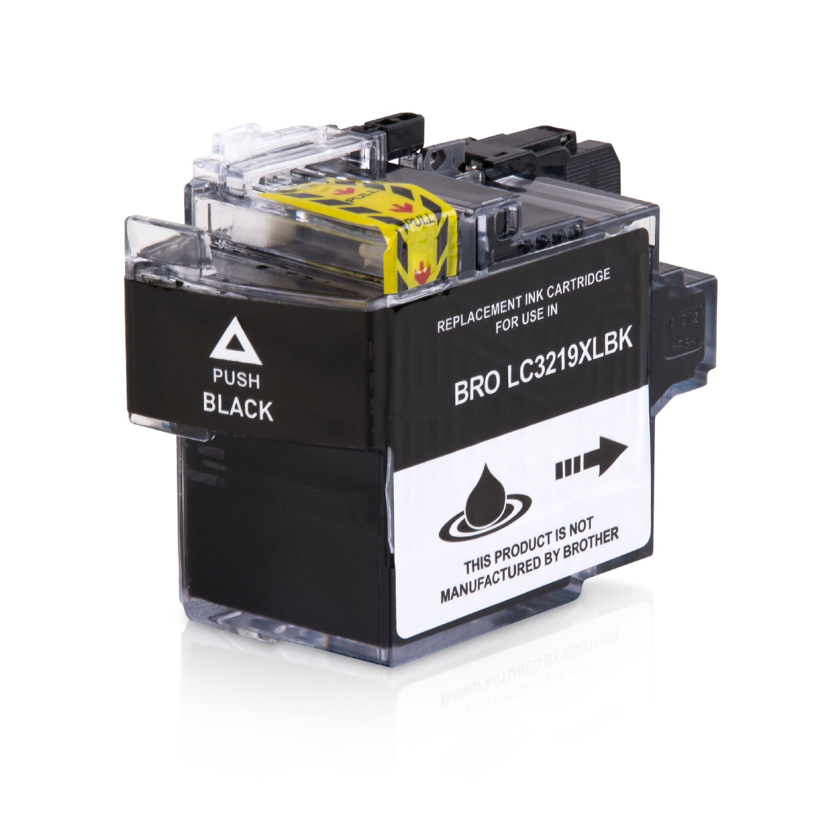 Bild fuer den Artikel IC-BRO3219XLbk: Alternativ-Tinte BROTHER LC-3219XLBK XL-Version in schwarz