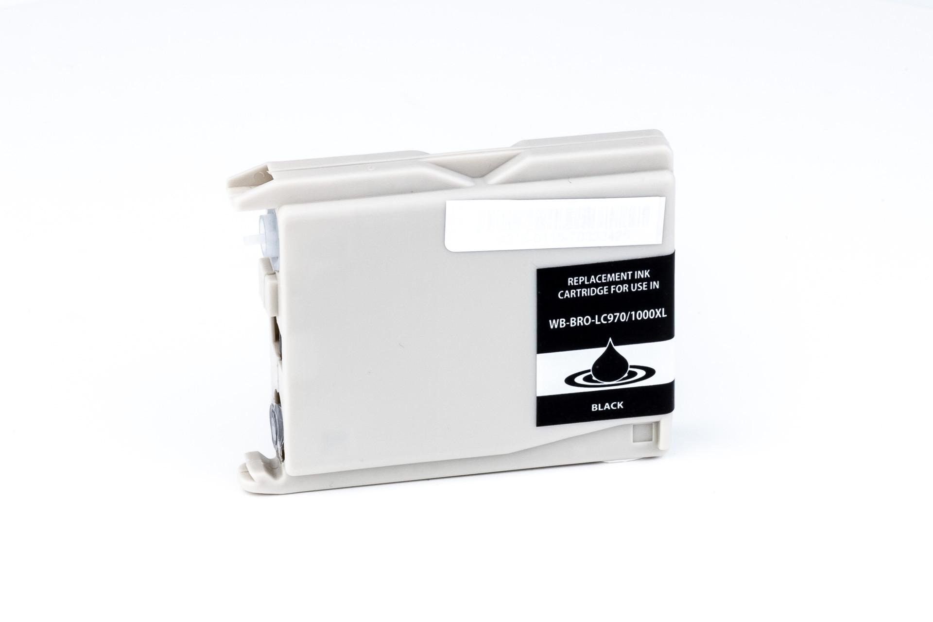 Alternativ-Tinte fuer Brother  LC 970  LC 1000  schwarz