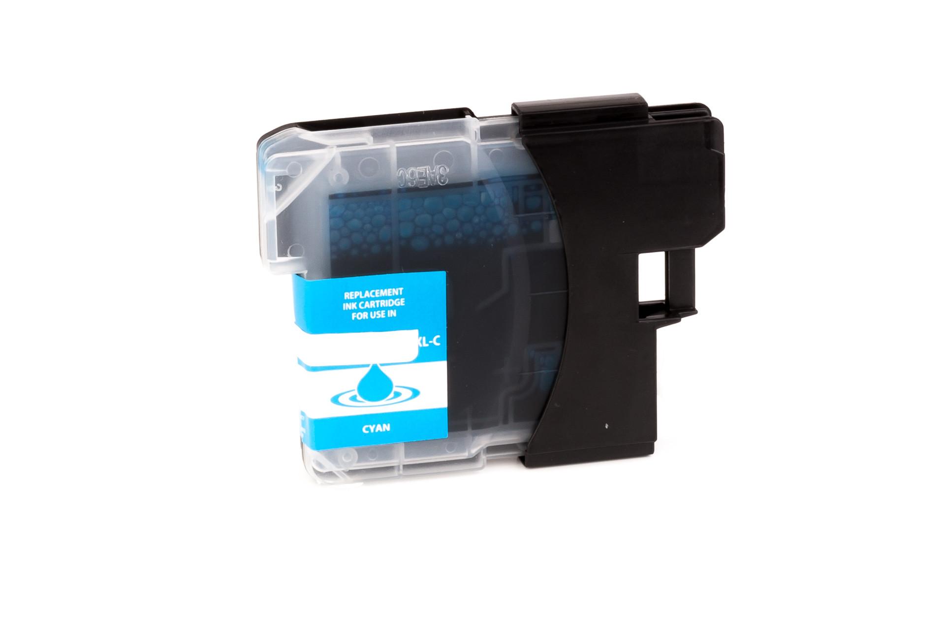 Alternativ-Tinte für Brother  LC-980 C /  LC-1100 C cyan