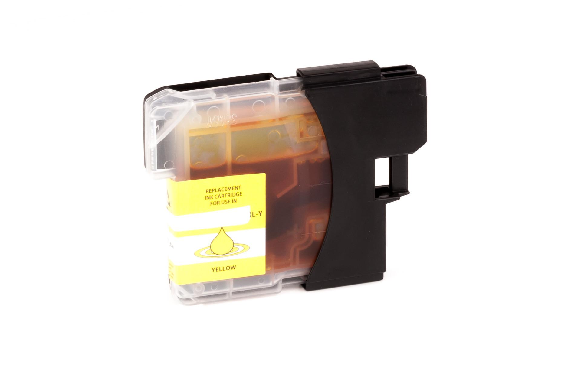 Alternativ-Tinte für Brother  LC-980 Y /  LC-1100 Y gelb