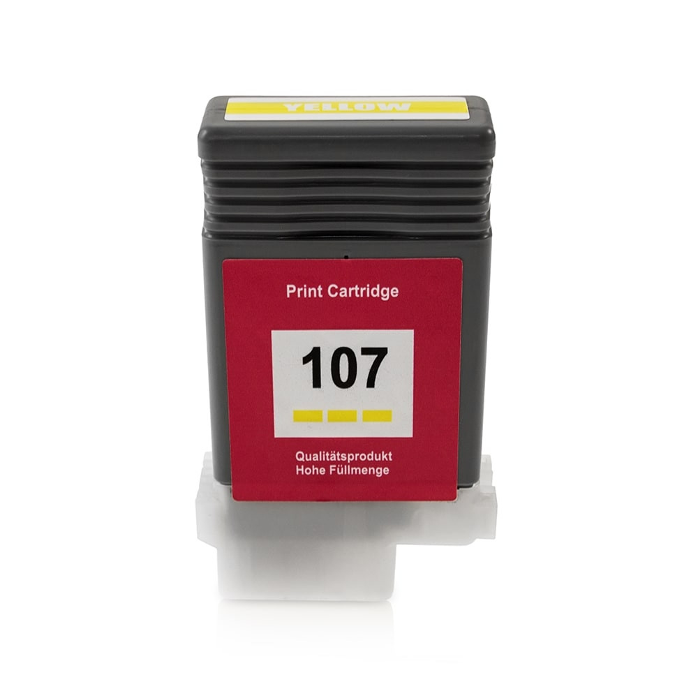 Bild fuer den Artikel IC-CANPFI107ye: Alternativ Tinte CANON PFI 107 Y 6708B001 in gelb