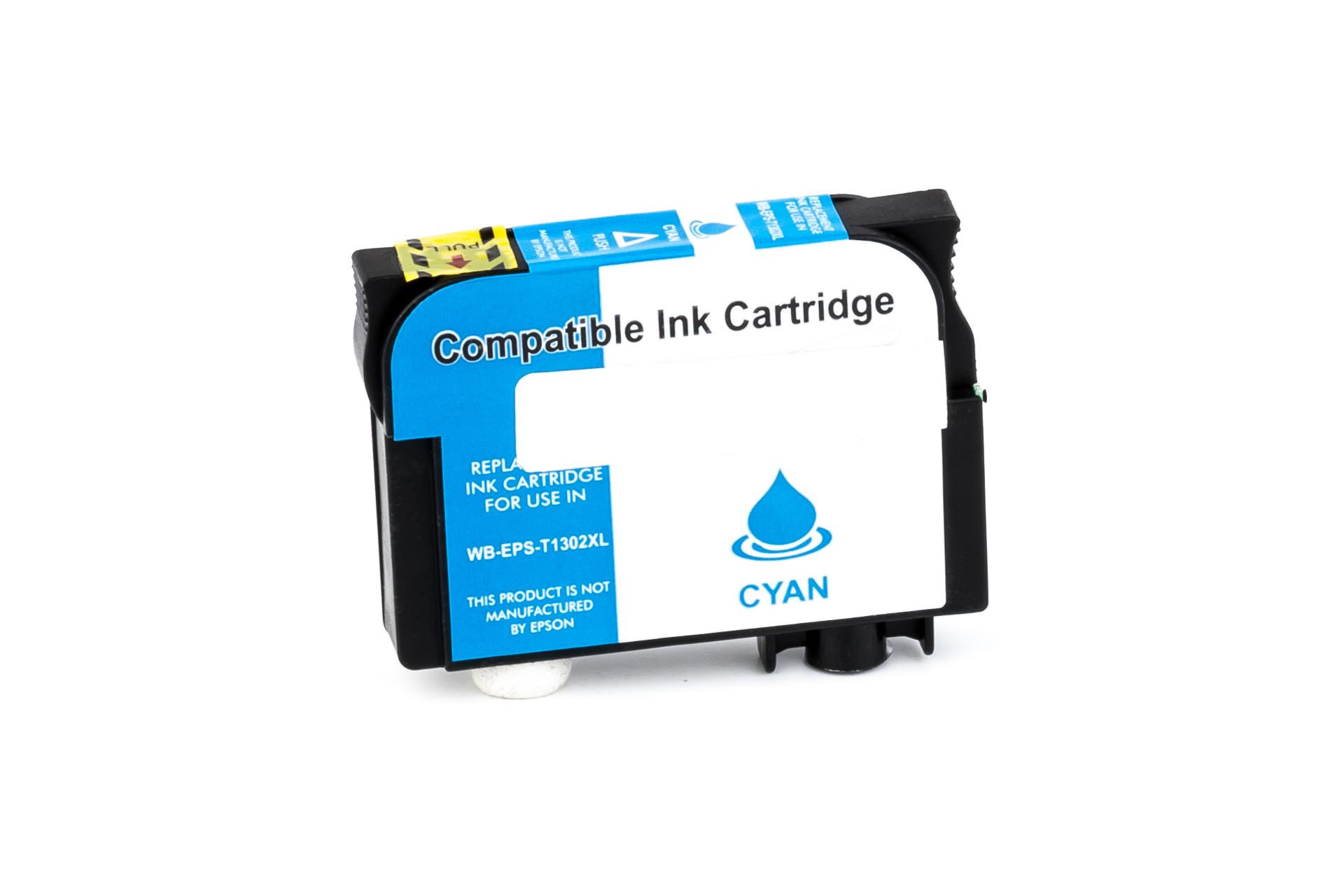 Alternativ-Tinte für Epson T1302 / C13T13024010 cyan