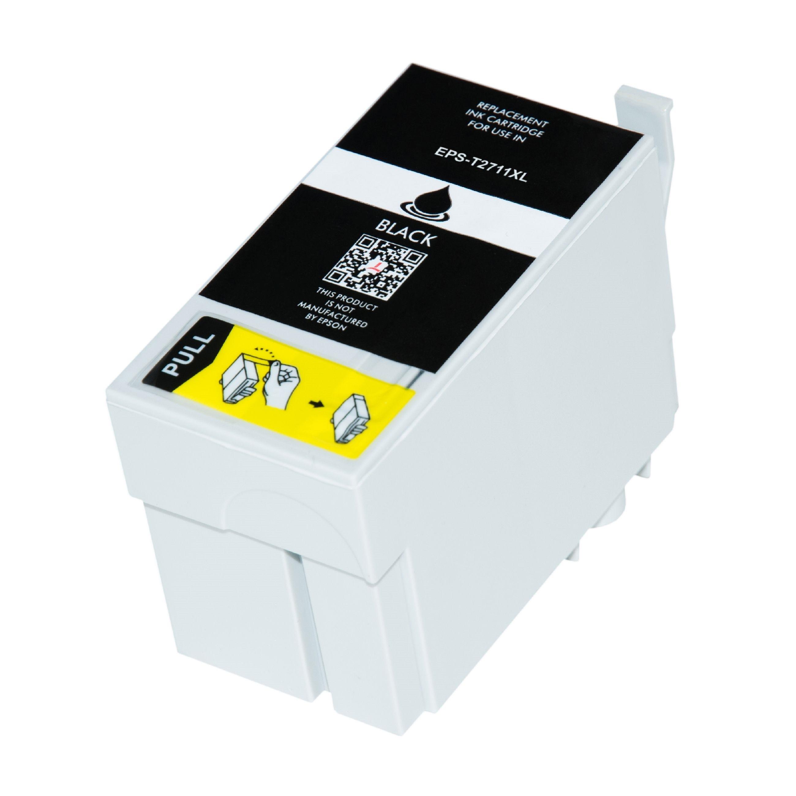 Bild fuer den Artikel IC-EPST2711bk: Alternativ Tinte Epson 27XL C13T27114010 in schwarz