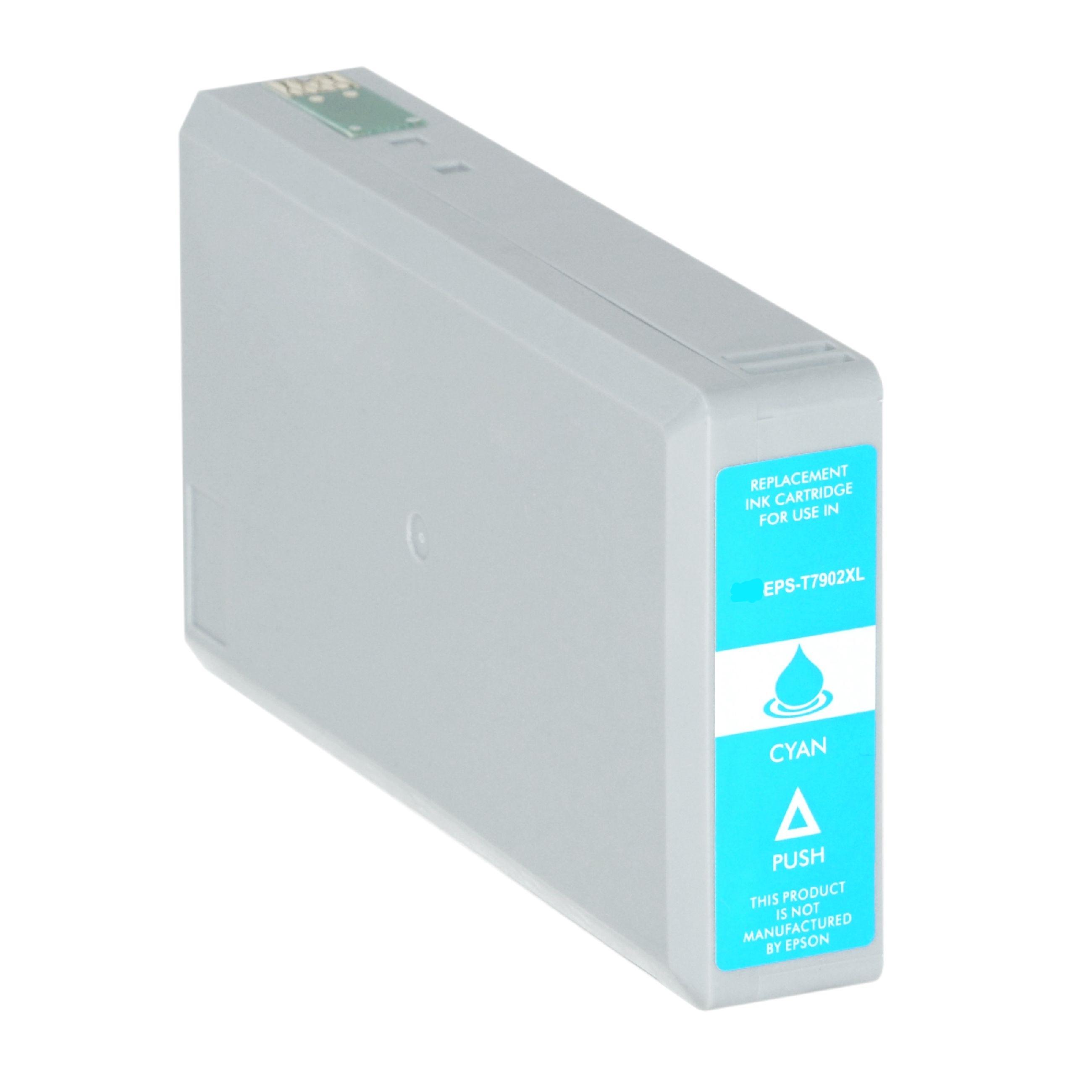 Bild für den Artikel IC-EPST7902cy: Alternativ-Tinte EPSON 79XL / C13T79024010 XL-Version in cyan