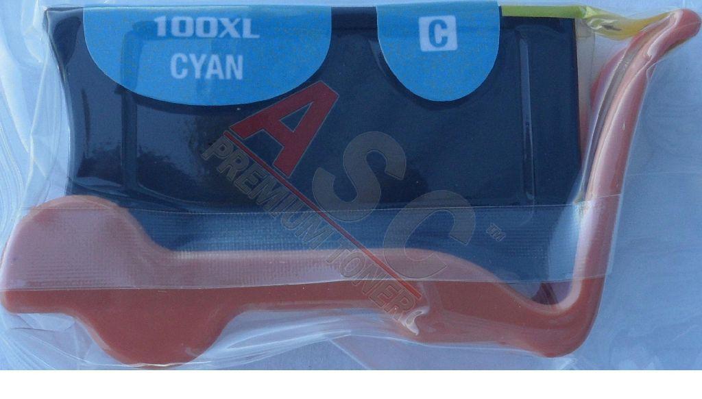 Alternativ-Tinte für Lexmark No. 100XLA / 14N1093 XL-Version cyan