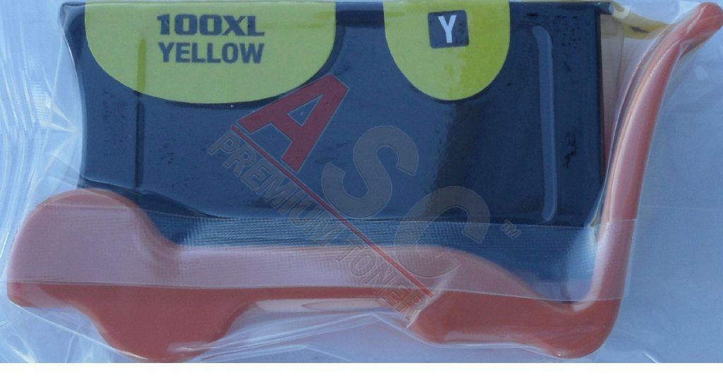 Alternativ-Tinte für Lexmark No. 100XLA / 14N1095E XL-Version gelb