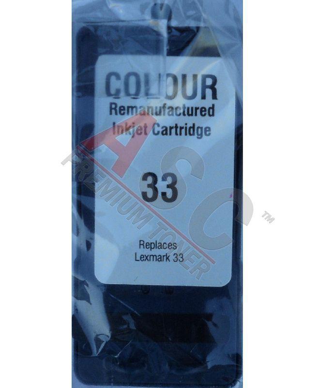 Alternativ-Tinte für Lexmark  No. 33 / 18C0033E tri-color
