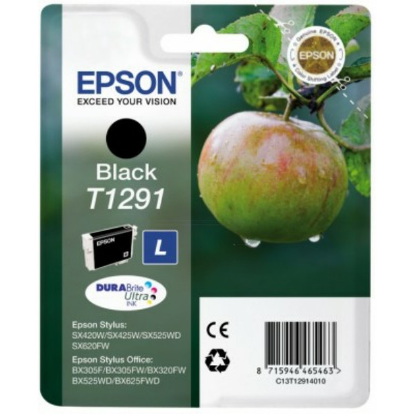 Original Tintenpatrone schwarz Epson C13T12914012/T1291 schwarz