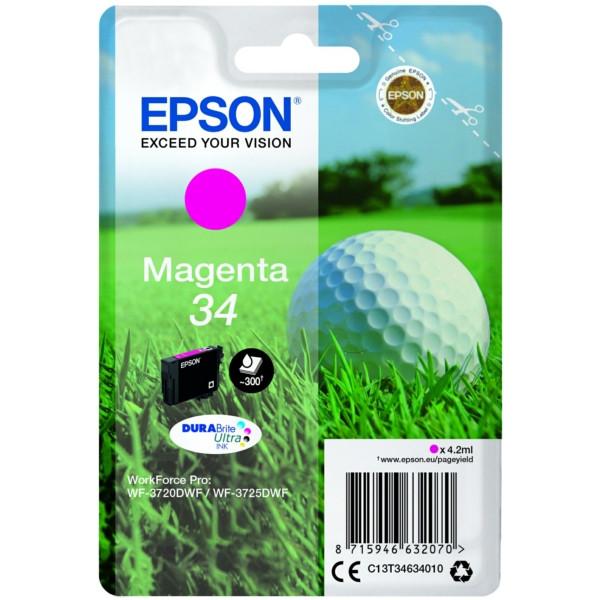 Original Tintenpatrone magenta Epson C13T34634010/34 magenta