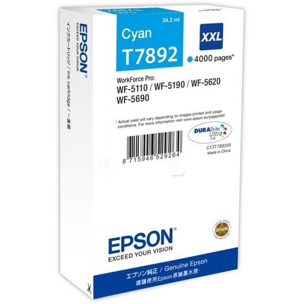 Original Tintenpatrone cyan Epson C13T789240/T7892 cyan