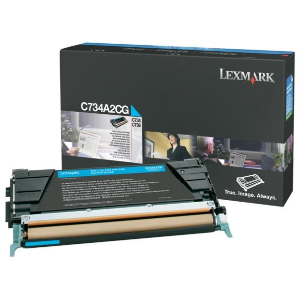 Original Toner cyan Lexmark C734A1CG cyan