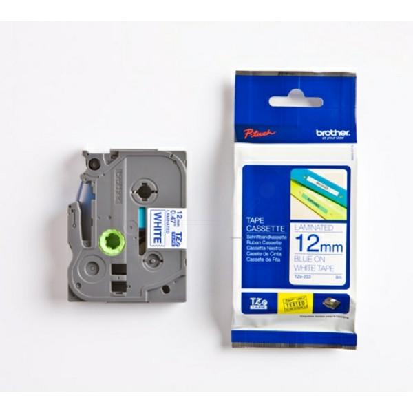 Original P-Touch Farbband Brother TZE233 blau weiß