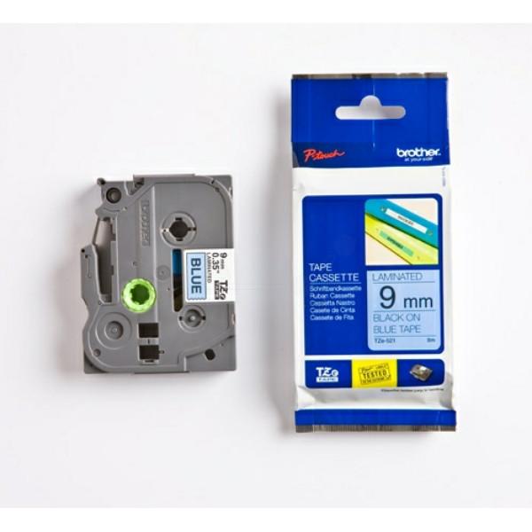 Original P-Touch Farbband Brother TZE521 schwarz blau