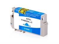 Bild fuer den Artikel IC-EPST3462cy: Alternativ Tinte EPSON 34 T3462 C13T34624010 XL Version in cyan