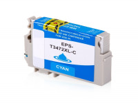 Bild fuer den Artikel IC-EPST3472Xcy: Alternativ Tinte EPSON 34XL T3472 C13T34724010 XL Version in cyan