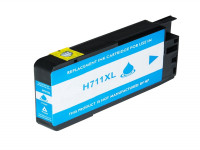 Bild fuer den Artikel IC-HPE711cy: Alternativ Tinte HP No. 711 CZ130A in cyan