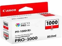 Original Tintenpatrone rot Canon 0554C001/PFI-1000 R rot