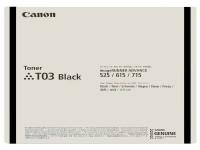 Original Toner Canon 2725C001/T03 schwarz