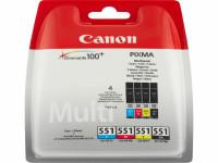 Original Tintenpatrone MultiPack Canon 6509B009/551 schwarz cyan magenta gelb