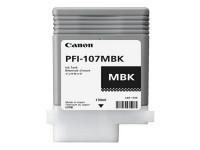 Original Tintenpatrone schwarz matt Canon 6704B001/PFI-107 MBK schwarzmatte