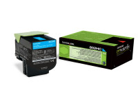 Original Toner cyan Lexmark 80C2HC0/802HC cyan