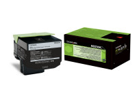 Original Toner schwarz Lexmark 80C2XK0/802XK schwarz