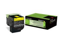 Original Toner gelb Lexmark 80C2XY0/802XY gelb
