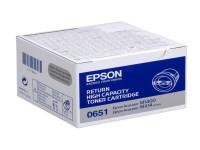 Original Toner schwarz Epson C13S050651/0651 schwarz