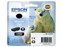 Original Tintenpatrone schwarz Epson C13T26014012/26 schwarz
