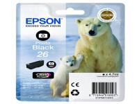 Original Tintenpatrone schwarz hell Epson C13T26114010/26 schwarz foto