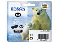 Original Tintenpatrone schwarz hell Epson C13T26314010/26XL schwarz foto