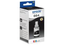 Original Tintenflasche schwarz Epson C13T664140/664 schwarz