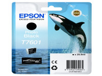 Original Tintenpatrone schwarz hell Epson C13T76014010/T7601 schwarz foto