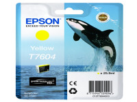 Original Tintenpatrone gelb Epson C13T76044010/T7604 gelb
