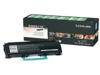 Original Toner schwarz Lexmark E460X11E schwarz