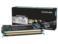 Original Toner schwarz Lexmark X746H1KG schwarz