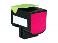 Bild fuer den Artikel TC-LEX410Xmg: Alternativ Toner LEXMARK 80C0H30 80C2HM0 800H3 802HM XL Version in magenta