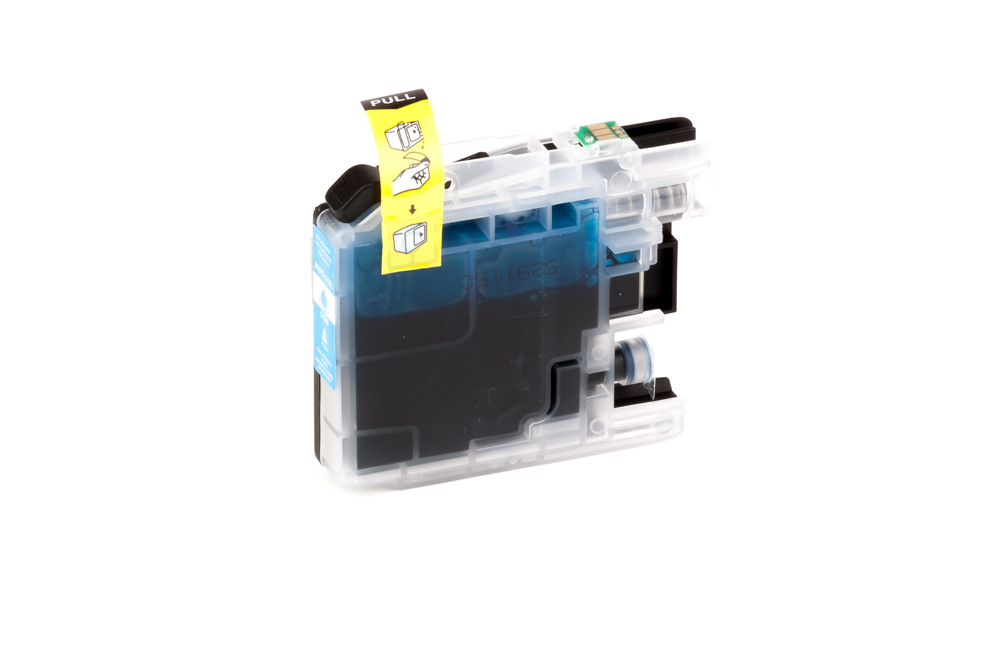 ASC-Premium-Tintenpatrone für Brother MFC-J 4410 DW cyan MFC-J 4410 DW MFC-J4410DW